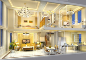 精致豪华的客厅设计效果图