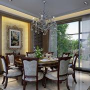 欧式风格餐厅装修桌椅图