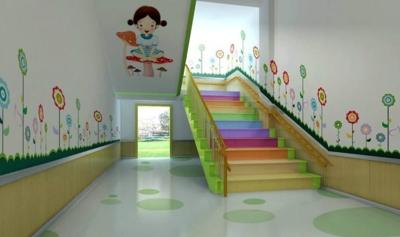 清新、欢快的幼儿园走廊布置效果图