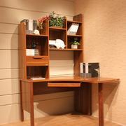 转角书柜实木设计