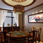 中式风格餐厅装修背景墙图