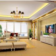 欧式风格客厅装修色调搭配