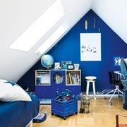 斜顶阁楼卧室效果图