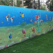 多彩的幼儿园壁画图片