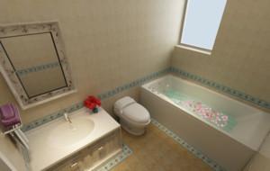 2015唯美的新中式卫生间设计装修效果图大全