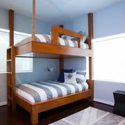 儿童房高低双层床装修效果图