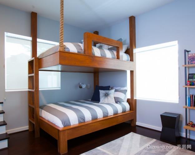充分利用空间儿童房小卧室高低双层床装修效果图