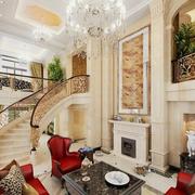纯白色的楼梯设计