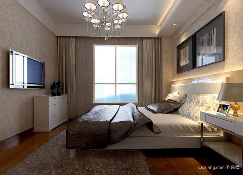 分外甜美的现代都市大户型卧室装修效果图