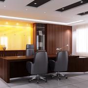 办公室装修桌椅效果图