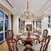 客厅吊顶装修桌椅图