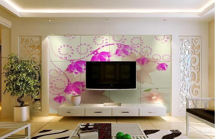 2015绚丽一新的现代电视瓷砖背景墙装修效果图