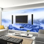 电视背景墙装修桌椅图