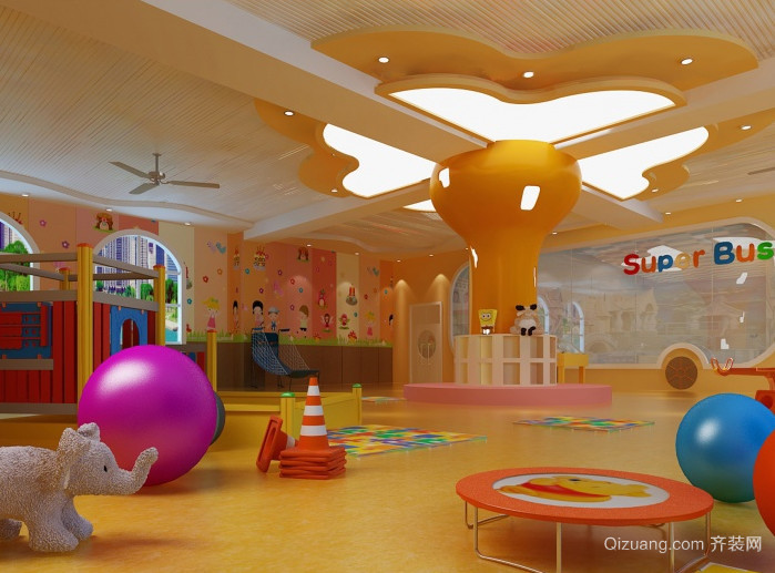 清新欢快的幼儿园装修效果图大全