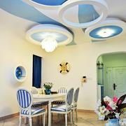 地中海风格餐厅装修吊顶图