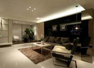 90平米后现代风格客厅装修效果图