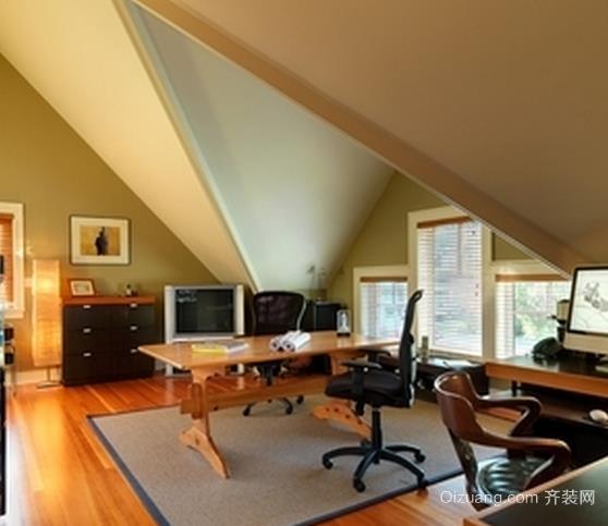 复式楼阁楼创意书房装修效果图