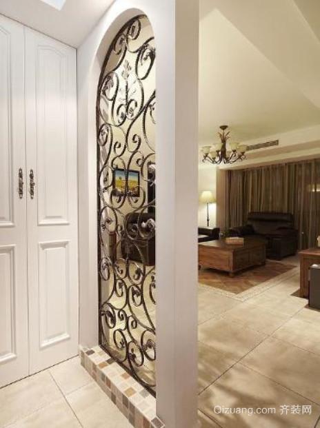 两室一厅美式玄关隔断装修效果图