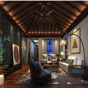 东南亚风格客厅整体图