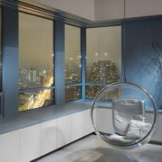 阳台装修玻璃窗图