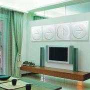 现代客厅背景墙做效果图