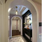 美式乡村风格客厅走廊图