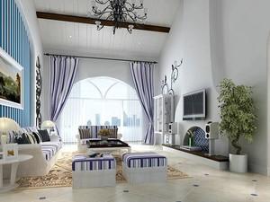地中海风格客厅背景墙