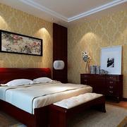 卧室壁纸装修地灯图