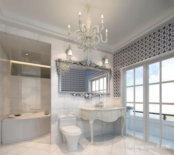 90平米两室一厅卫生间防水石膏板吊顶装修效果图