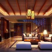 东南亚风格客厅灯光设计