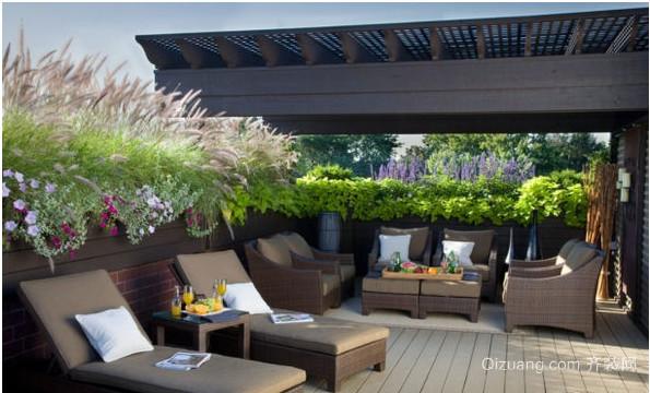 空气清新露台花园装修效果图