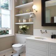 白色卫生间背景墙图