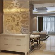 欧式客厅屏风装修效果图