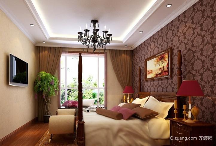 大户型混搭风格卧室背景墙装修效果图欣赏