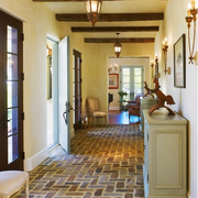 美式乡村风格客厅地板砖