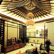 东南亚风格客厅完美吊顶
