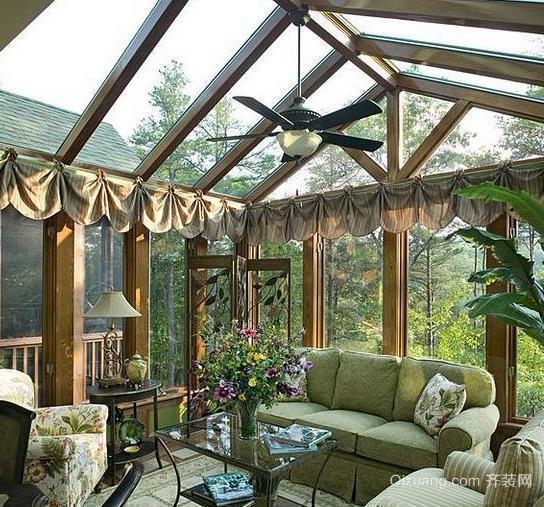 现代简约美式阳光房装修效果图