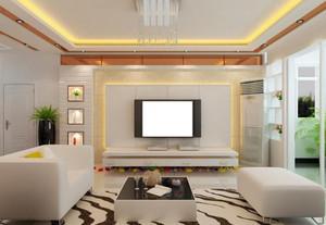 120平米三居室欧式客厅背景墙装修效果图