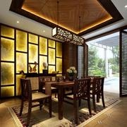 精致餐厅背景墙装修效果图