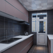 精致的厨房背景墙设计