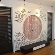 中式背景墙装修效果图