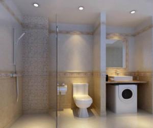 20平米都市混搭风格卫生间装修效果图