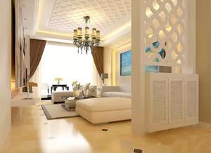 地中海风格小客厅玄关隔断装修效果图