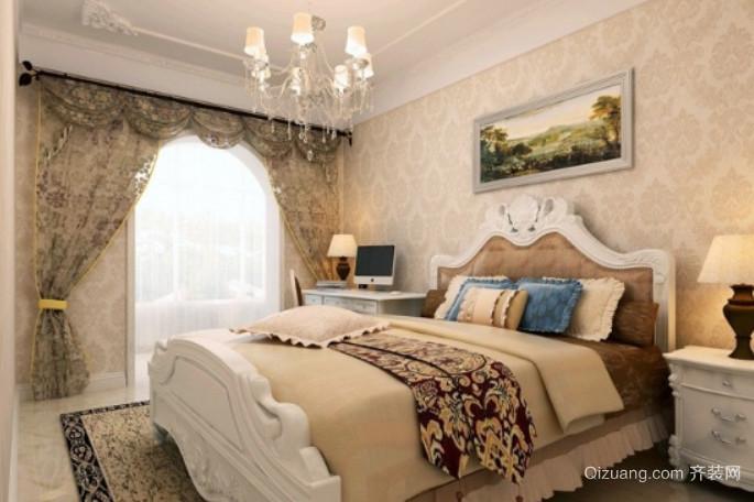 50平米奢华别致的欧式卧室吊顶装修效果图