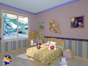 童话般可爱迷人的儿童房装修效果图