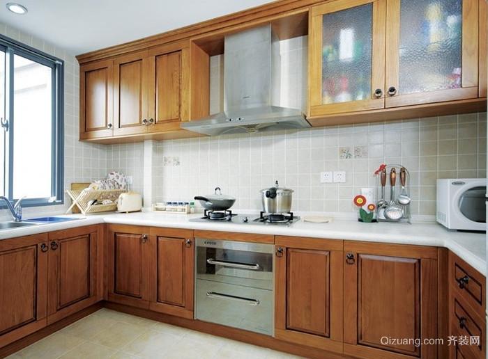 韩式复式楼厨房装修效果图