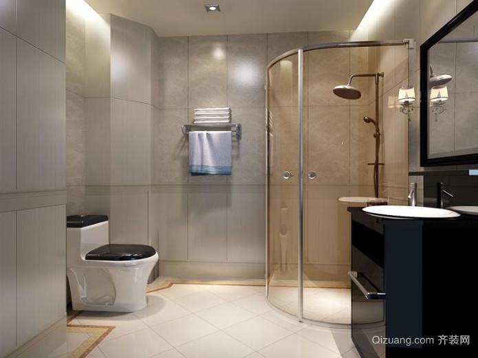 三室一厅现代简约风格卫生间装修效果图