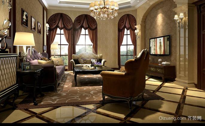别墅美式风格飘窗装修效果图