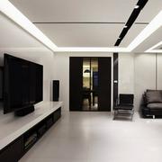 现代电视背景墙效果图