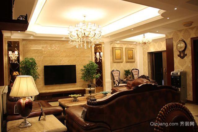 别墅大厅影视墙装修效果图